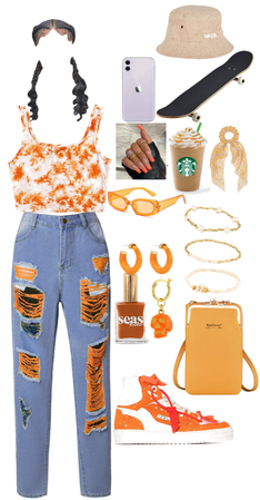 outfit:🧡🟠🔶🔸🟧