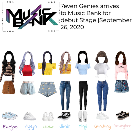 7even Genies arrive to music bank for debut stage | September 26, 2020