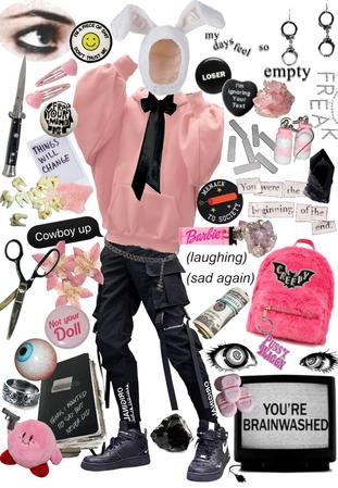 Pink Freak street wear (altr)