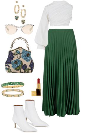 Pleated Skirt OOTD Inspo