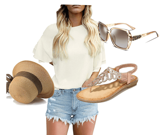 Bell Sleeves and Denim Shorts