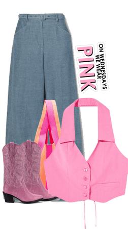 Wednesday wear pink