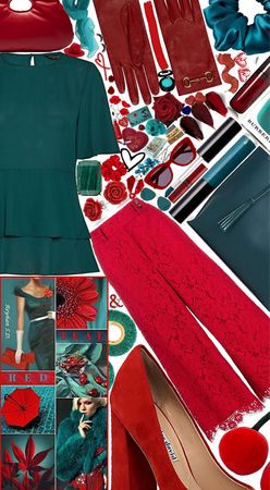 ❤️teal & red❤️