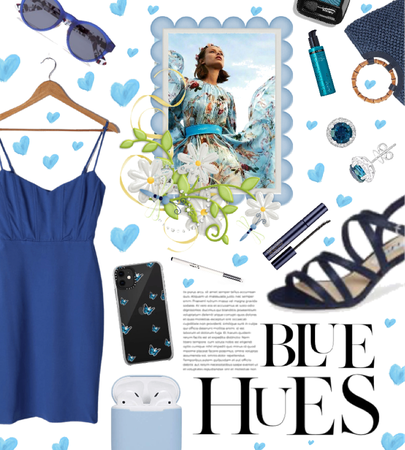 blue hues in the summer