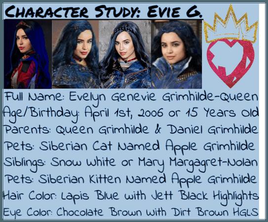 Character Study #3: Evelyn Genevie Grimhilde-Queen