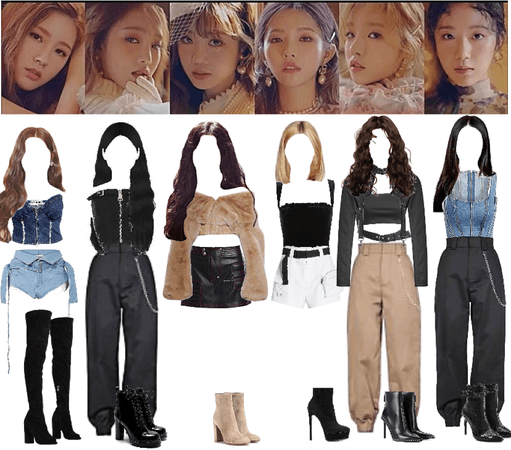 G-IDLE uh-oh stage outfits