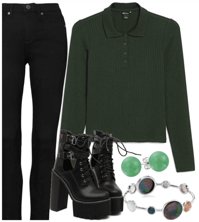Relaxing green - with a touch of edgy