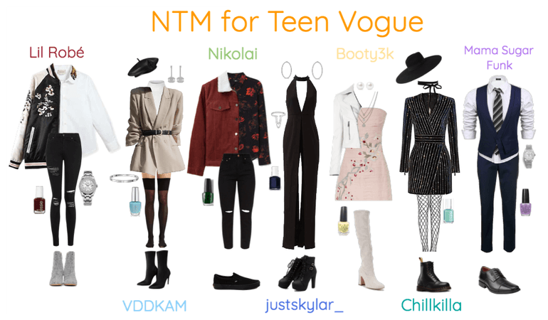 NTM - Outfits for 'Teen Vogue' Cover
