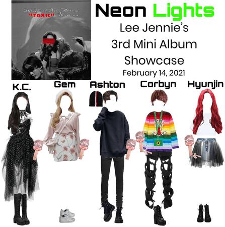 Neon Lights at Lee Jennie's 3rd Mini Album Showcase