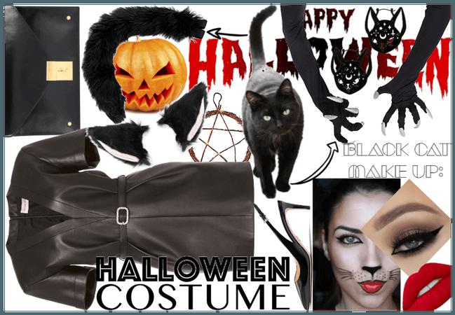 Spooky (& Adorable) black cat Halloween costume