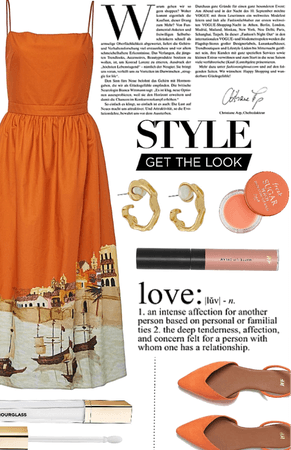 Orange Venice dress