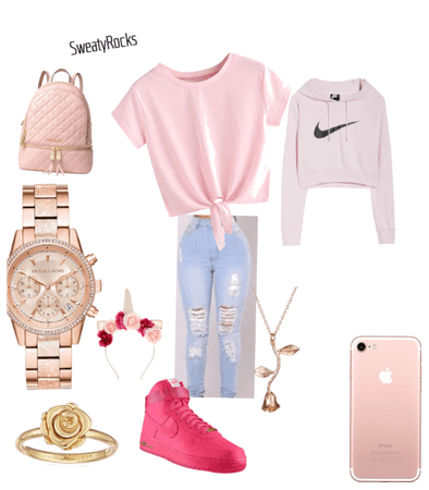 Pink pastel gamer outfit
