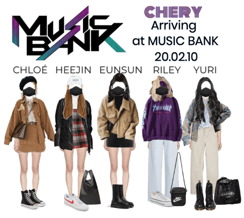 CHERY ARRIVING AT MUSIC BANK