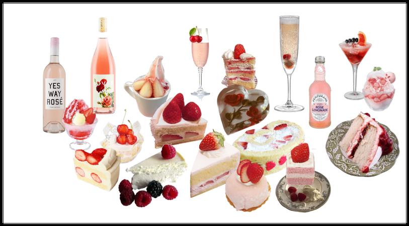 (rose, berries, cherries)