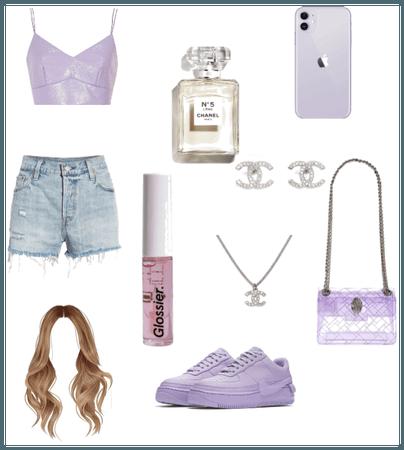 purple outfit xxx