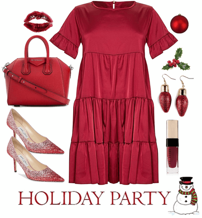 Holiday Party in Red
