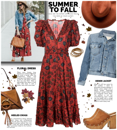 Summer to fall outfit 🍁🍂