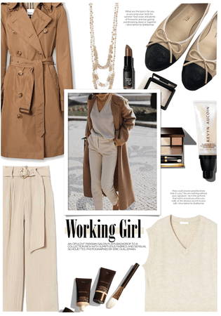 Fall Work Style: Brown Trenchcoat