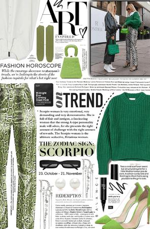 green scorpio. 💚