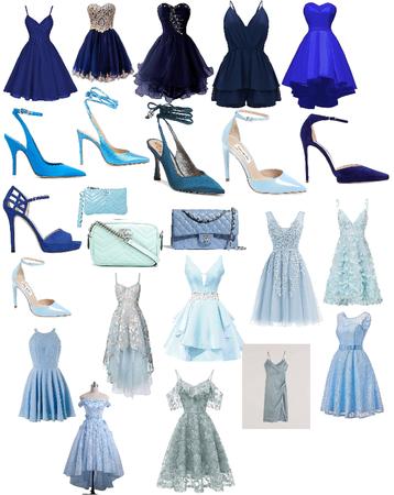 Girls Blue Formal Wear