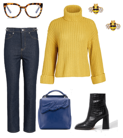 Blue & Yellow Casual