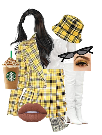 plaid layers outfit!!••••