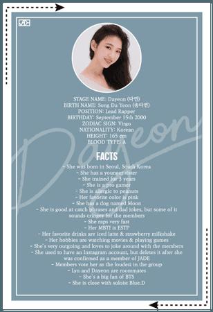 JADE (제이드) DAYEON Profile