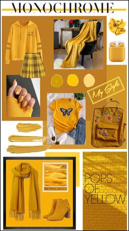 Monochrome: Mustard Yellow