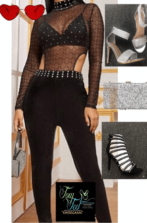 black rhinestone jumpsuit