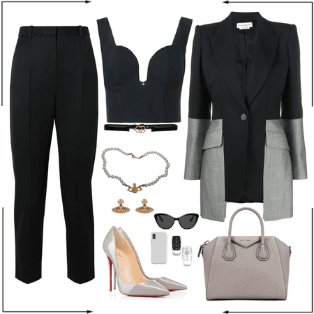 Grey + Black outf
