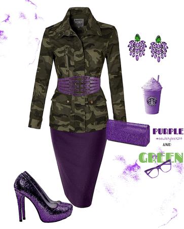 Purple & Green Shade