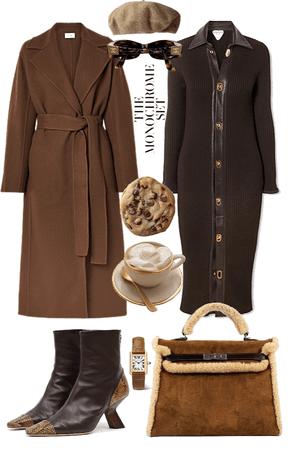the monochrome set - brown