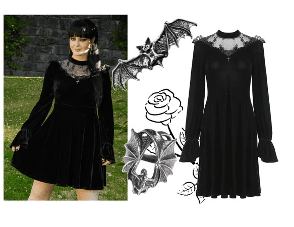 Goth velvet dress
