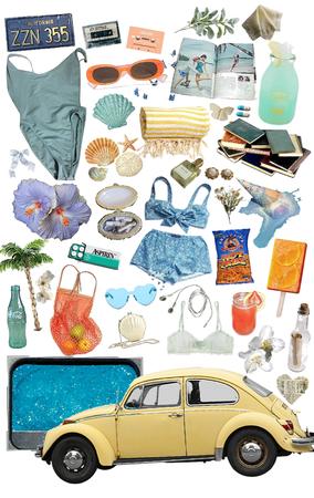 beach day 🌊🍊🐚