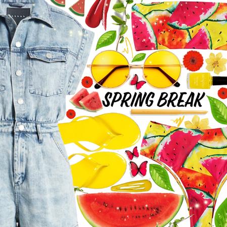 spring break 🍉💕 hit the beach