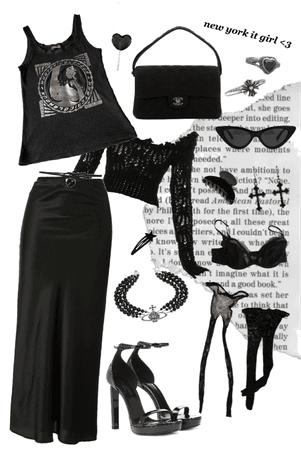 back to black on black