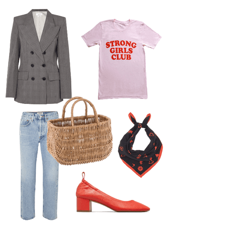 Strong Girls Club basket outfit