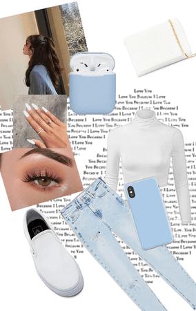 pastel blue theme