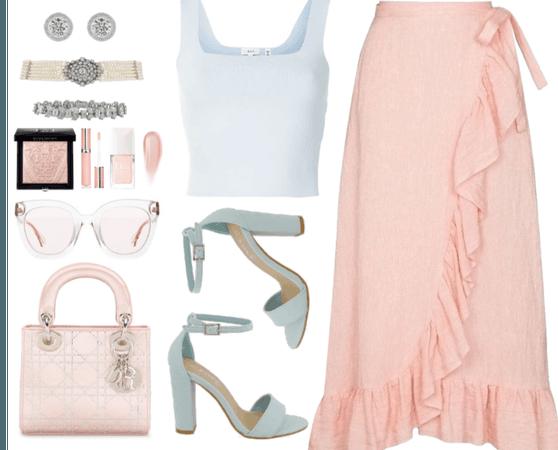 Pastel pink & blue