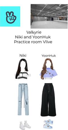 ~𝕍al𝕜yrie~ Niki and YoonHuk Practice Room Vlive
