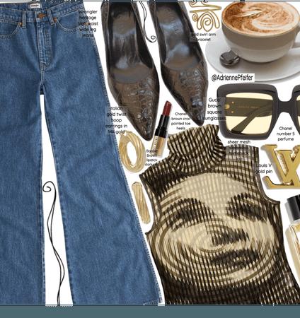 Jeans & Cute Top