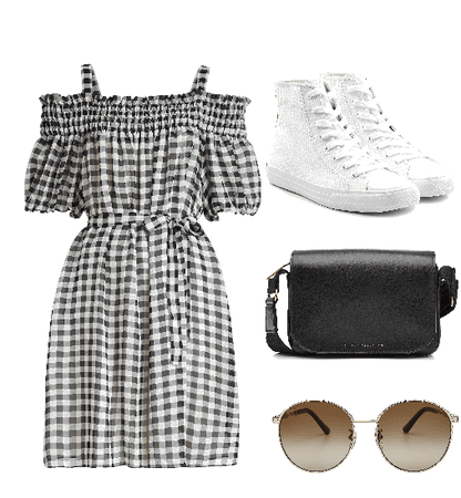 casual checked outfit