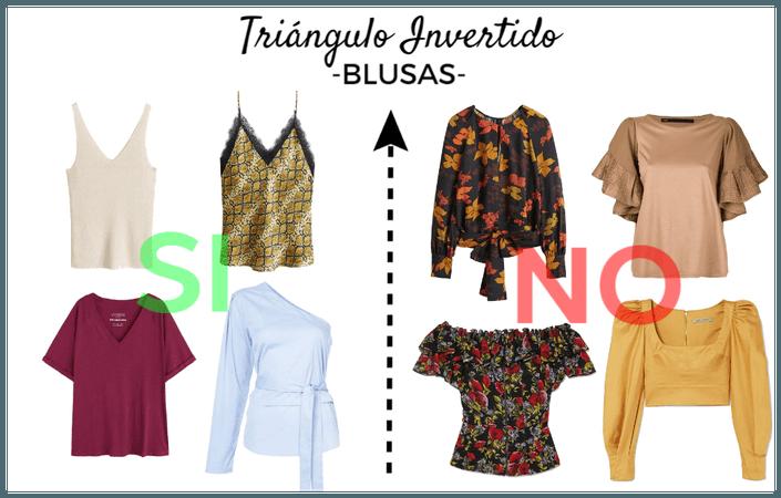 Blusas para tipo de cuerpo: Triángulo Invertido