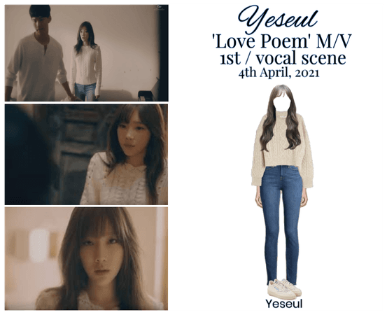 YESEUL- 'Love Poem' M/V- 1st+vocal scene outfit
