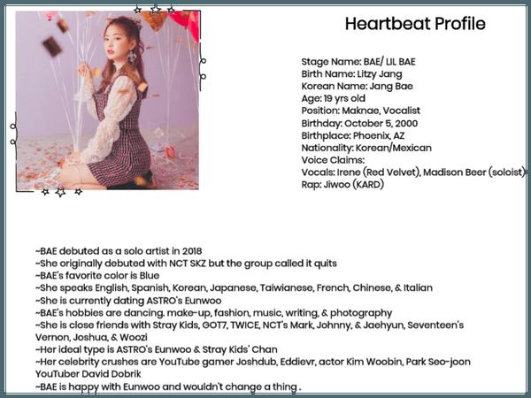 Heartbeat's Maknae BAE Profile