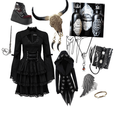 Lolita Dark Witch Outfit