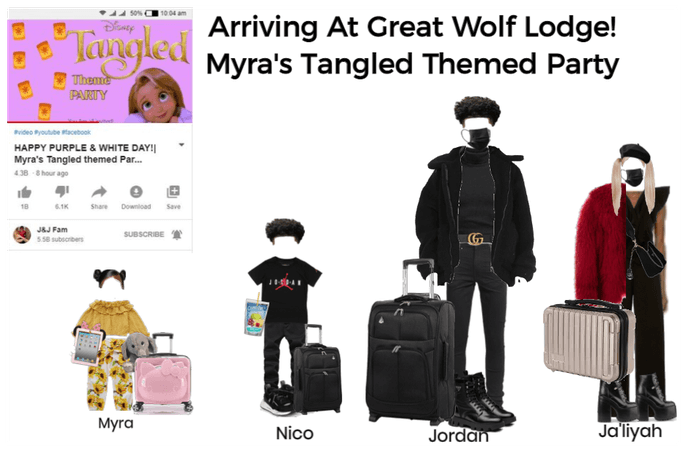 Arriving At great wolf Lodge! Outfits| J&J Fam