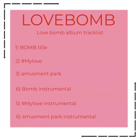 Lovebomb - Love bomb tracklist