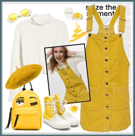 yellow corduroy