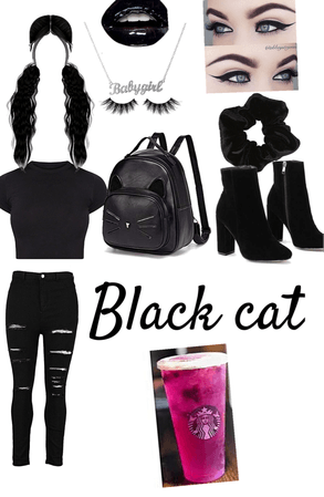 Black Cat Halloween Outfit